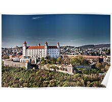The beautiful Bratislava Castle. Poster