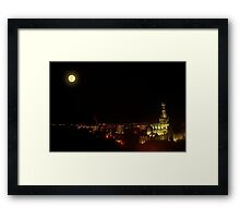 Full Moon over Glasgow Cathedral Framed Print