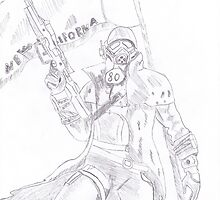 NCR Ranger Veteran Sketch by Gorknex
