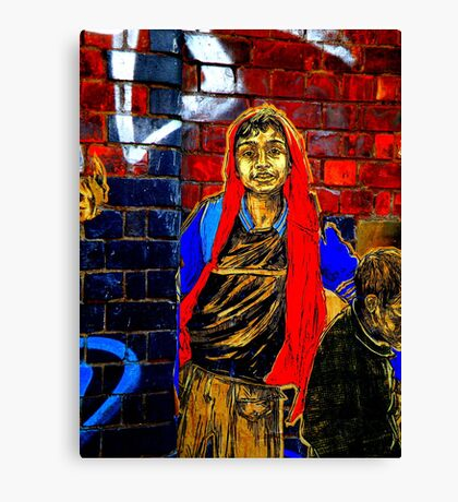 Graffiti Boy  Canvas Print