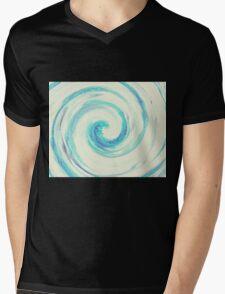 Blue wave Mens V-Neck T-Shirt