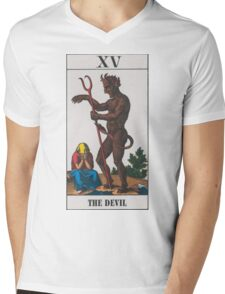 The Devil Tarot Mens V-Neck T-Shirt
