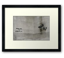 No comment. Framed Print