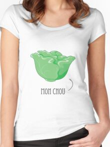 Mon Chou - My Cabbage French Term of Endearment Women's Fitted Scoop T-Shirt