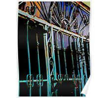 Blue Grate Poster