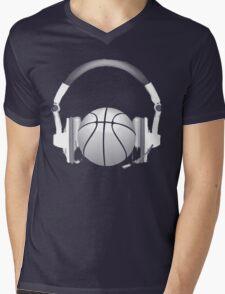 headphones t-shirt Mens V-Neck T-Shirt