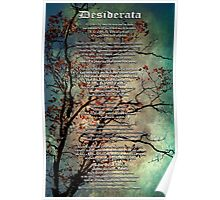Desiderata Inspiration Over Textured Tree Poster