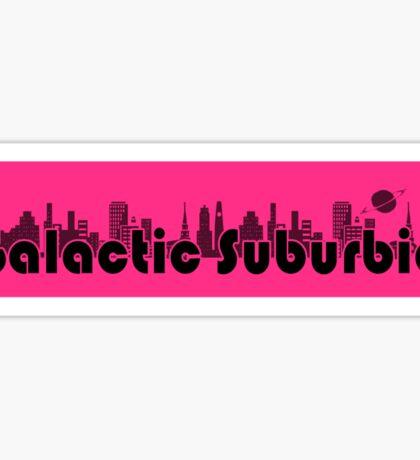 Galactic Suburbia Classic Sticker