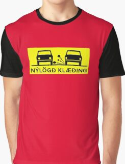 Newly-Laid Road Surface, Traffic Sign, Iceland Graphic T-Shirt