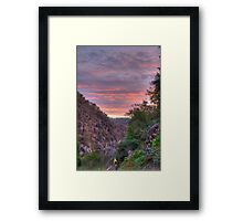 The Gorge at Sunset Framed Print