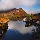 Highland Tarn reflection - Cradle Mountain N.P. by Mark Shean