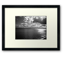 Cloudy waters (Black & White) Framed Print