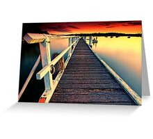 Donnelly Jetty Sunset Greeting Card