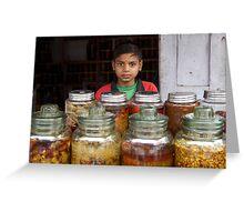 Pickle seller, Kathmandu Greeting Card