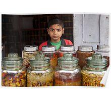 Pickle seller, Kathmandu Poster