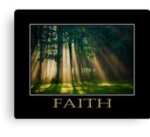 Faith Inspirational Art Canvas Print