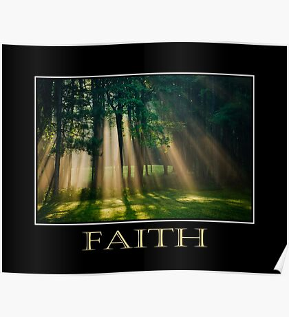 Faith Inspirational Art Poster