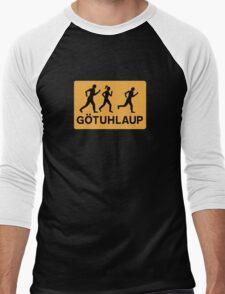Organized Street Running, Traffic Sign, Iceland Men's Baseball ¾ T-Shirt