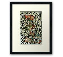 Woman in sorrow  Framed Print