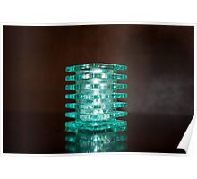Turquoise Candle Holder Poster
