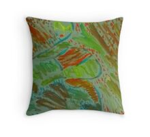 Color in mad Throw Pillow