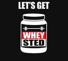 Let's Get Whey-Sted Funny Gym Bodybuilding Protein Mashup T-Shirt