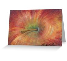 Abstract Apple Greeting Card