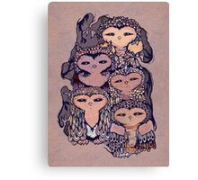 Day Owls Canvas Print