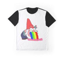 Gnome puking happiness - Gravity Falls Graphic T-Shirt