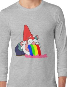 Gnome puking happiness - Gravity Falls Long Sleeve T-Shirt