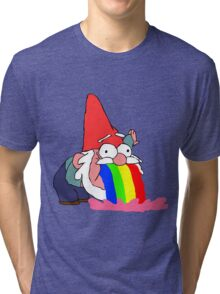 Gnome puking happiness - Gravity Falls Tri-blend T-Shirt
