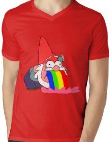 Gnome puking happiness - Gravity Falls Mens V-Neck T-Shirt