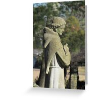 St. Francis Statue, Glastonbury Abbey Greeting Card