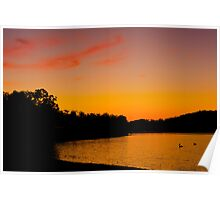 Sunset Wivenhoe Dam Poster