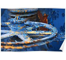 Blue Pulley Poster
