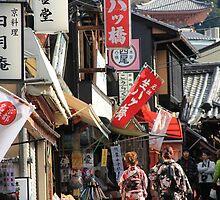 Women wearing kimono in Japan by rhua5436