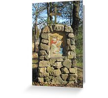 Station of the Cross #6, Glastonbury Abbey Greeting Card