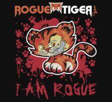 RogueTiger.com - Smirk Logo Red (dark) by roguetiger