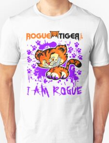 RogueTiger.com - Smirk Logo Purple (light) T-Shirt