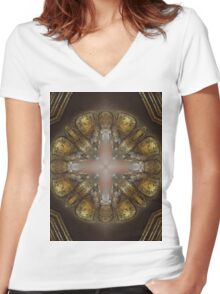 Golden 1 Women's Fitted V-Neck T-Shirt