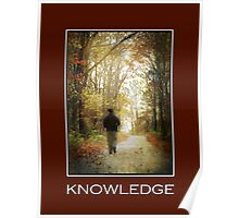 Knowledge Inspirational Art Poster