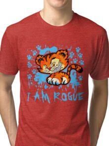 RogueTiger.com - Smirk Light Blue (light) Tri-blend T-Shirt