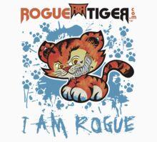 RogueTiger.com - Smirk Logo Light Blue (light) by roguetiger