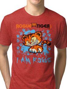 RogueTiger.com - Smirk Logo Light Blue (light) Tri-blend T-Shirt