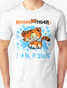 RogueTiger.com - Smirk Logo Light Blue (light) T-Shirt