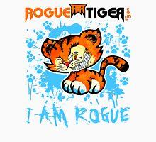RogueTiger.com - Smirk Logo Light Blue (light) Unisex T-Shirt