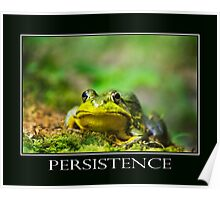 Persistence Inspirational Art Poster
