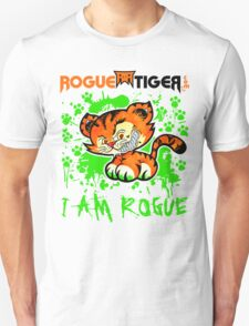 RogueTiger.com - Smirk Logo Green (light) T-Shirt