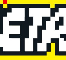 Retro | 8 Bit 80s Geek Sticker