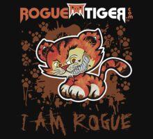 RogueTiger.com - Smirk Logo Brown (dark) by roguetiger